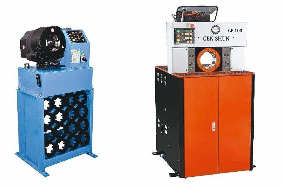 亙順油壓機械有限公司新推出GP-32(左)以及GP-100兩款新機型。 亙順/提...