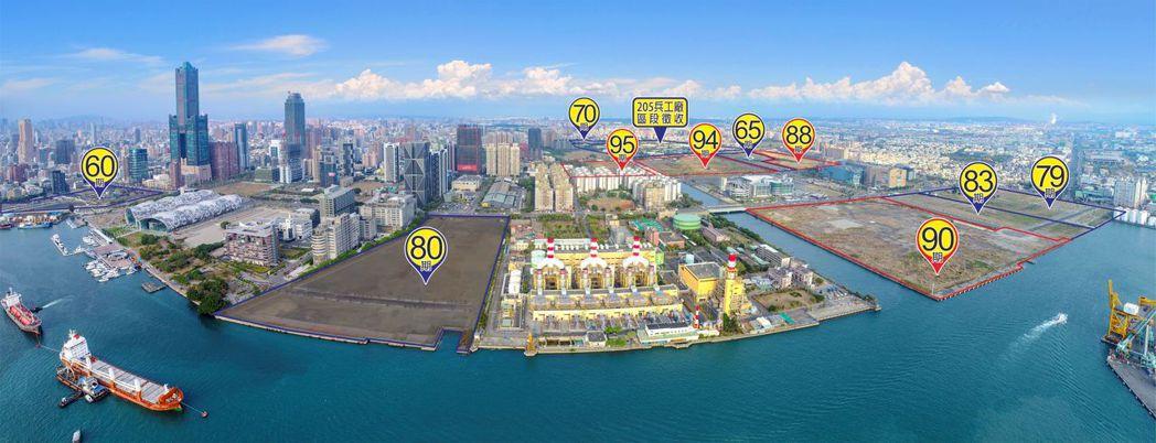 亞洲新灣區公辦開發分佈圖。 地政局/提供