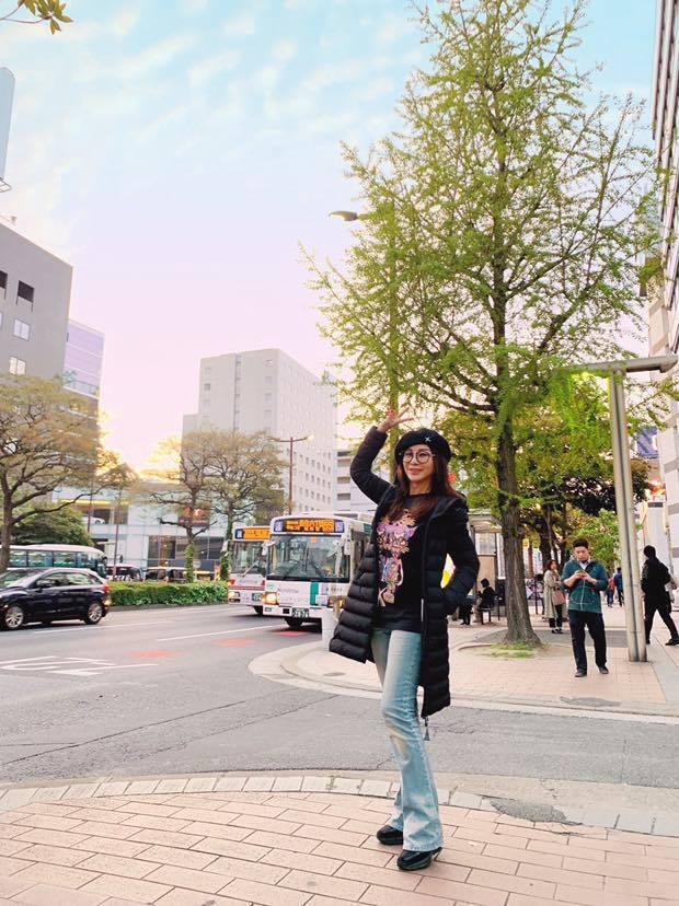 陳美鳳到日本旅遊。 圖/擷自陳美鳳臉書