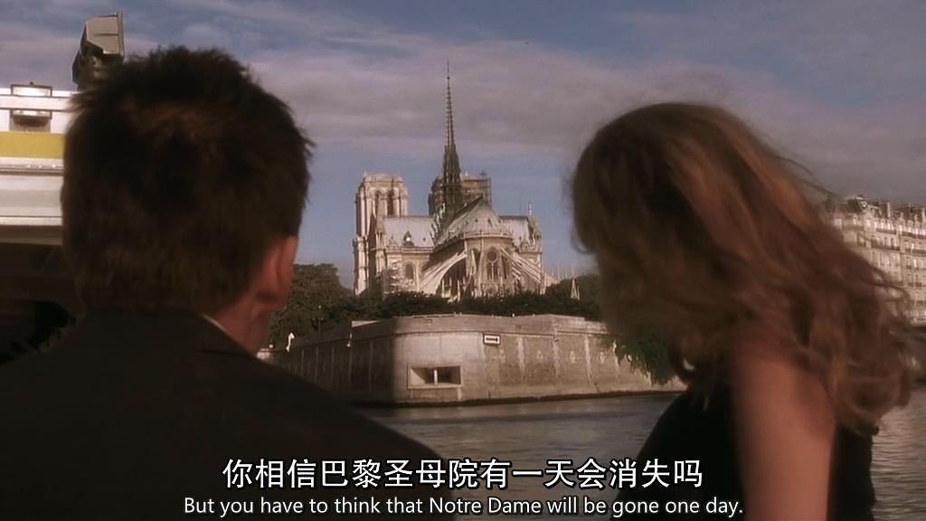 電影「愛在日落巴黎時」出現的神預言片段。 圖/擷自豆瓣電影