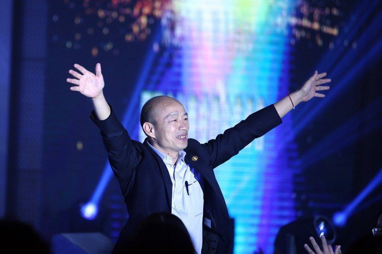 從去年高雄選戰模式、就任市長百日來的作為,韓國瑜已看穿國民黨典型政治人物欠缺群眾魅力的瓶頸。 圖/聯合報系資料照