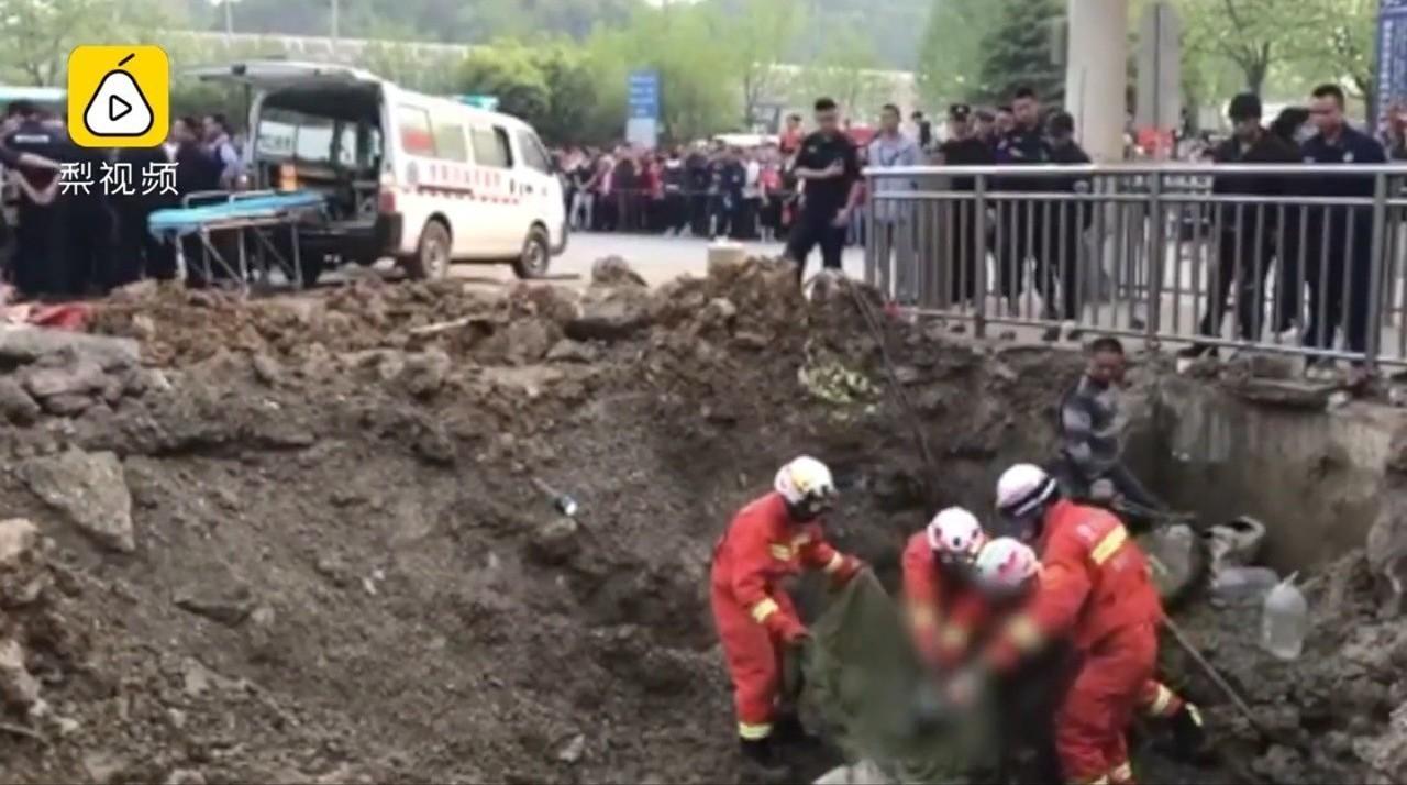 搜救人員歷時5小時搶救,男童仍不幸身亡。圖擷自梨視頻