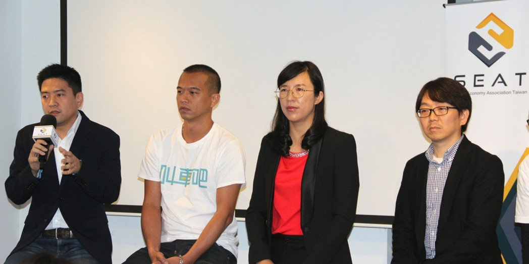 (由左至右)Uber台灣總經理吳罡、叫車吧共同創辦人賴群森、Airbnb台灣香港...