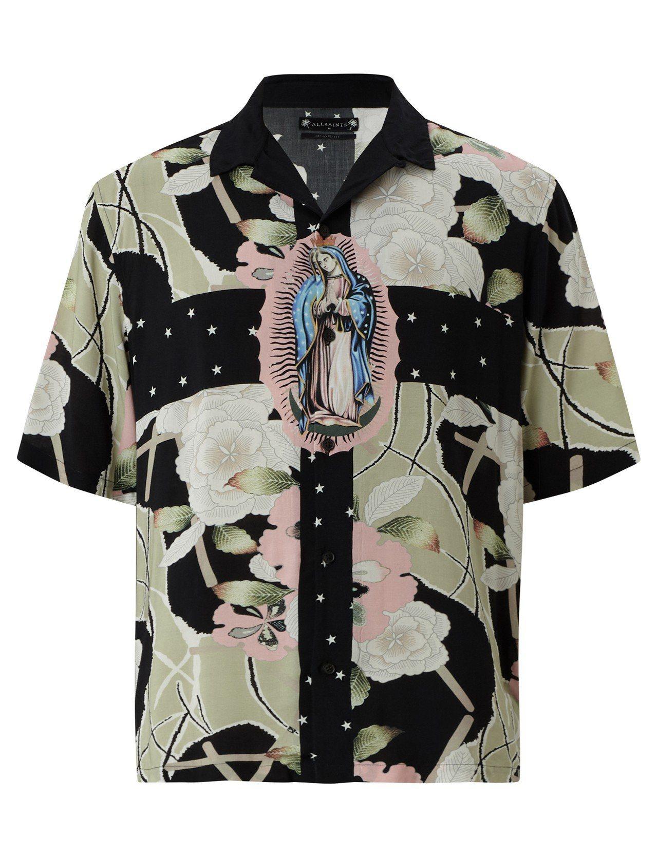 AllSaints Puerto印花襯衫4,400元。圖/AllSaints提供