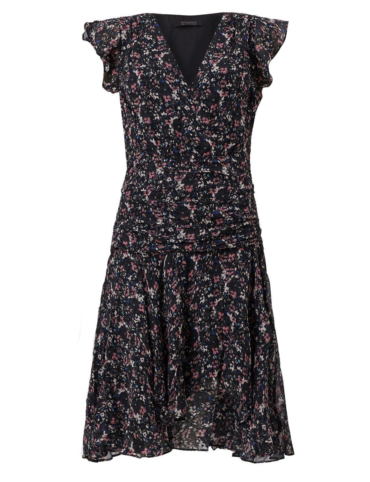 AllSaints Caris印花洋裝9,700元。圖/AllSaints提供