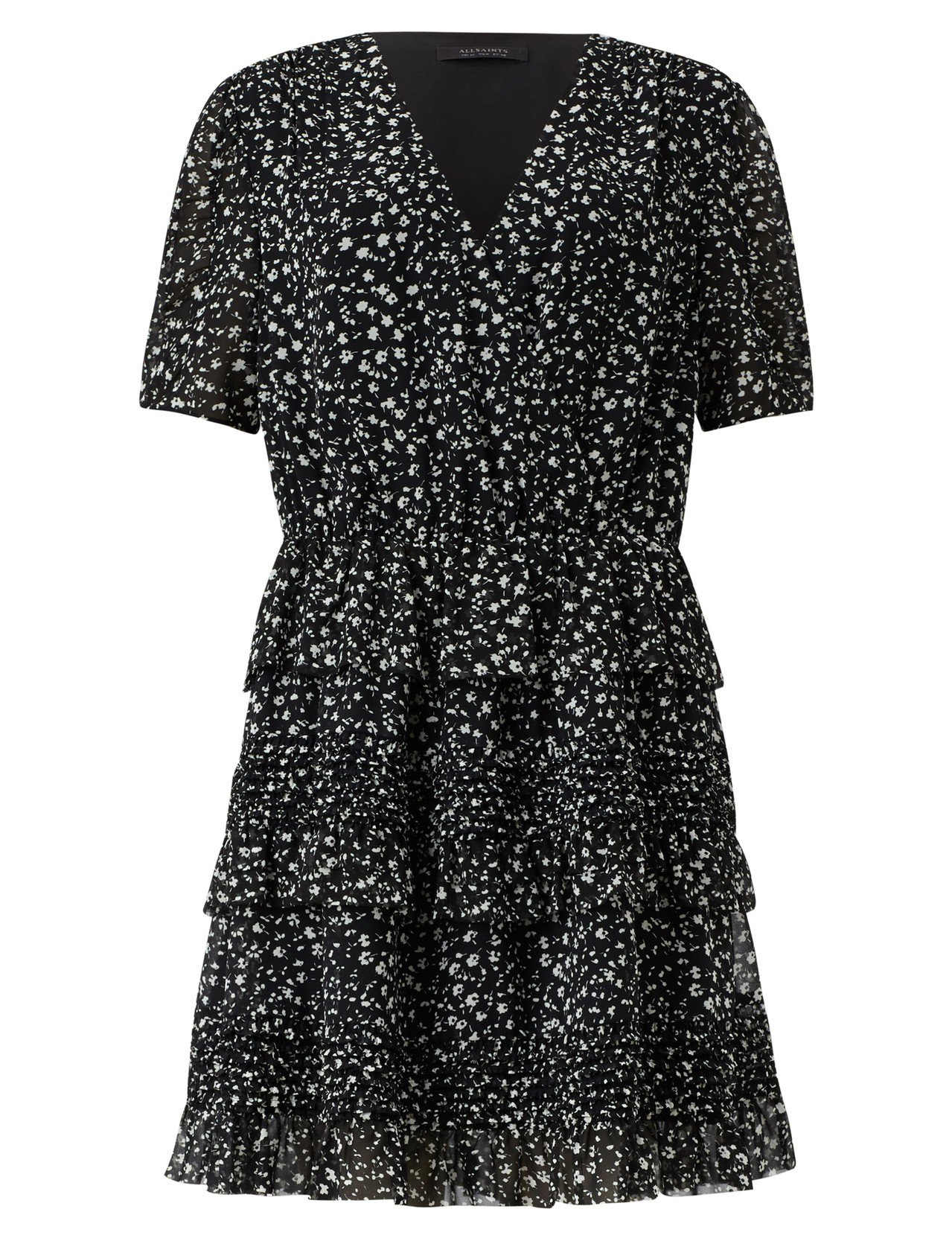 AllSaints Ilia Pippa印花洋裝7,600元。圖/AllSain...