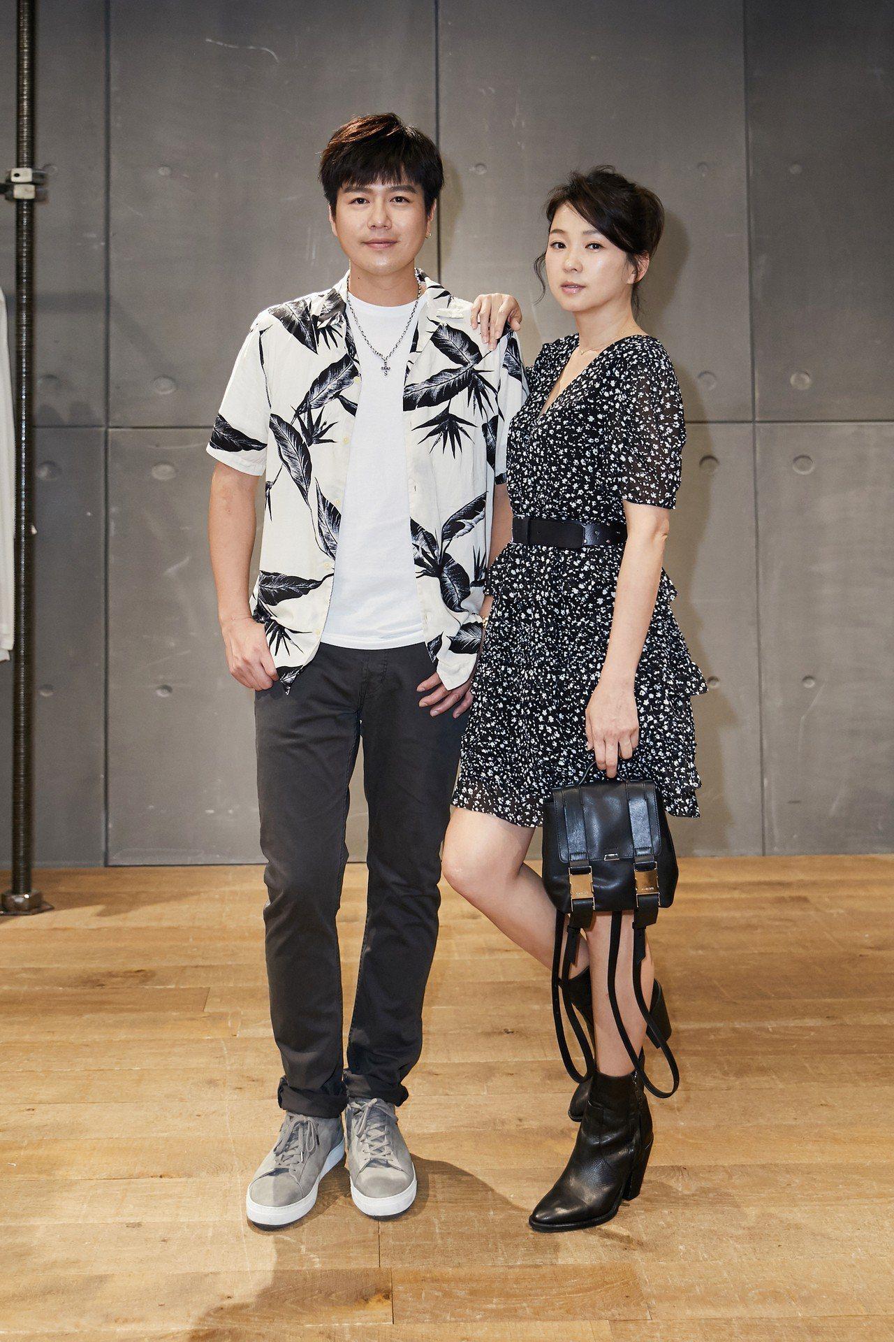 李易(左)與六月夫婦,曾替AllSaints擔任一日店長。圖/AllSaints...