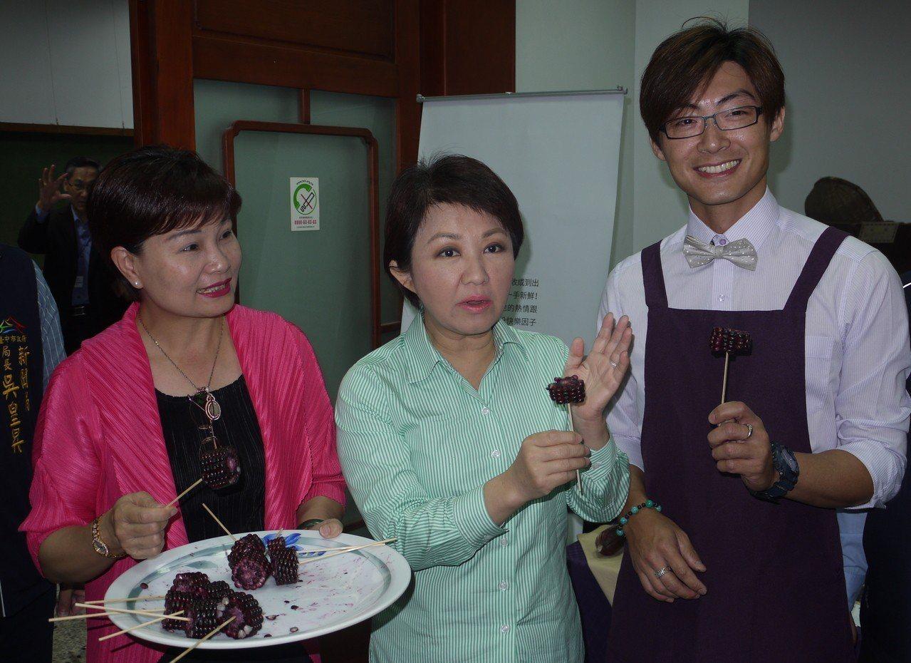國民黨總統初選傳出採「民調徵召」方式,台中市長盧秀燕今早說,她對形式保持彈性,只...