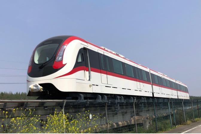 大陸國產首列新一代中低速磁浮車整車已成功匹配線路,進入動態調試階段 。(香港文匯...