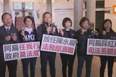 影/陳水扁關回去!國民黨團帶手銬赴監院舉發