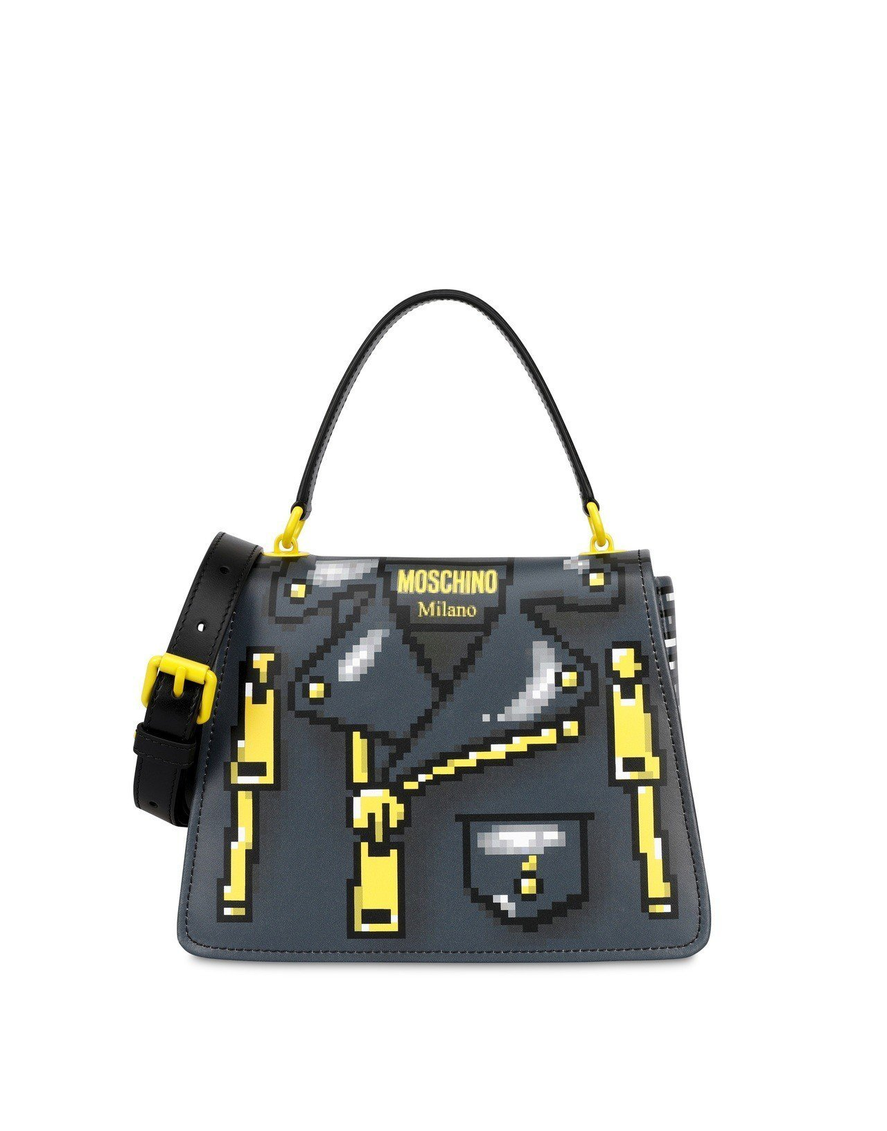 低畫素夾克包包,42,500元。圖/Moschino提供