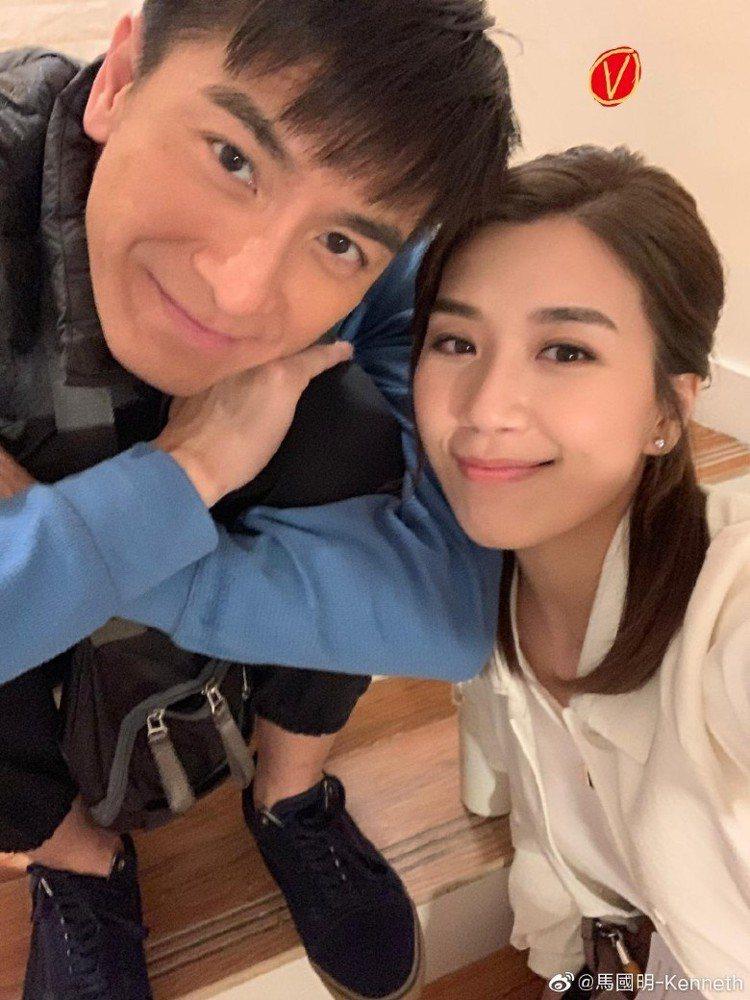 黃心穎男友馬國明(左)。圖/摘自微博