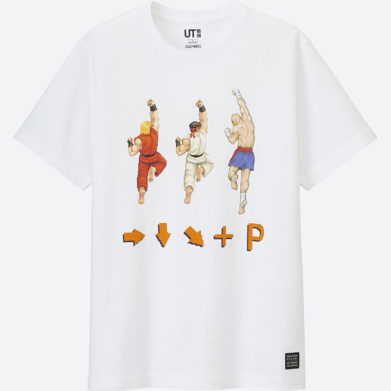 UNIQLO聯名《快打旋風》UT,售價590元。圖/UNIQLO提供