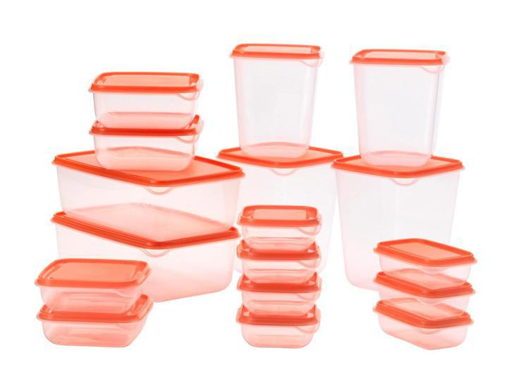 PRUTA保鮮盒 17件組(透明橘色)原價149元、IKEA百元商店逢甲店優惠價...