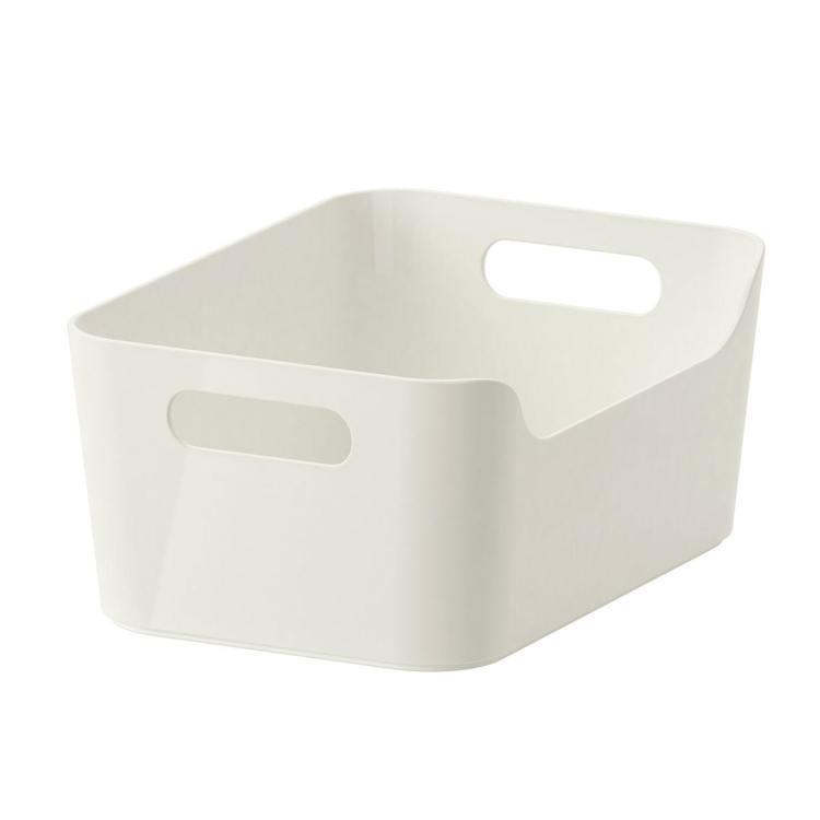 VARIERA收納盒(白色)是IKEA百元商店通化店的熱賣品項之一,售價79元。...
