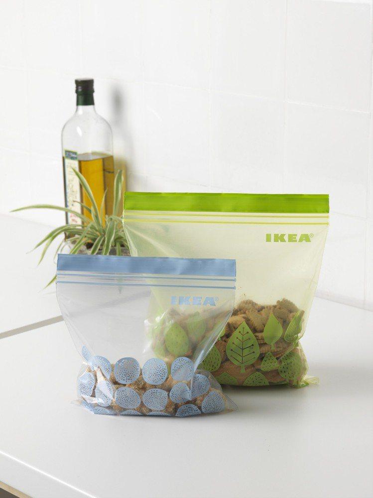 ISTAD保鮮袋是IKEA百元商店逢甲店的熱賣品項之一,50件裝售價89元。圖/...