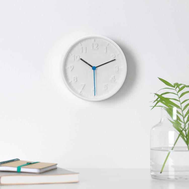 STOMMA時鐘(白色)是IKEA百元商店通化店的熱賣品項之一,售價45元。圖/...
