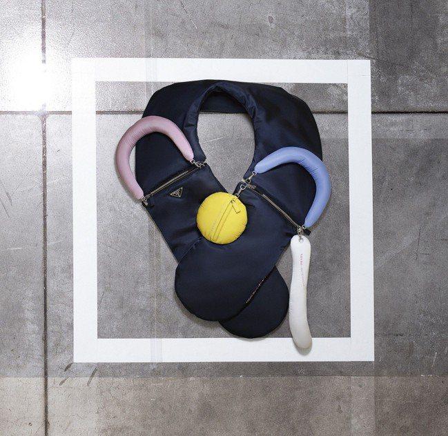 妹島和世設計的可拆卸及組合彎型袋yooo,54,500元。圖/Prada提供