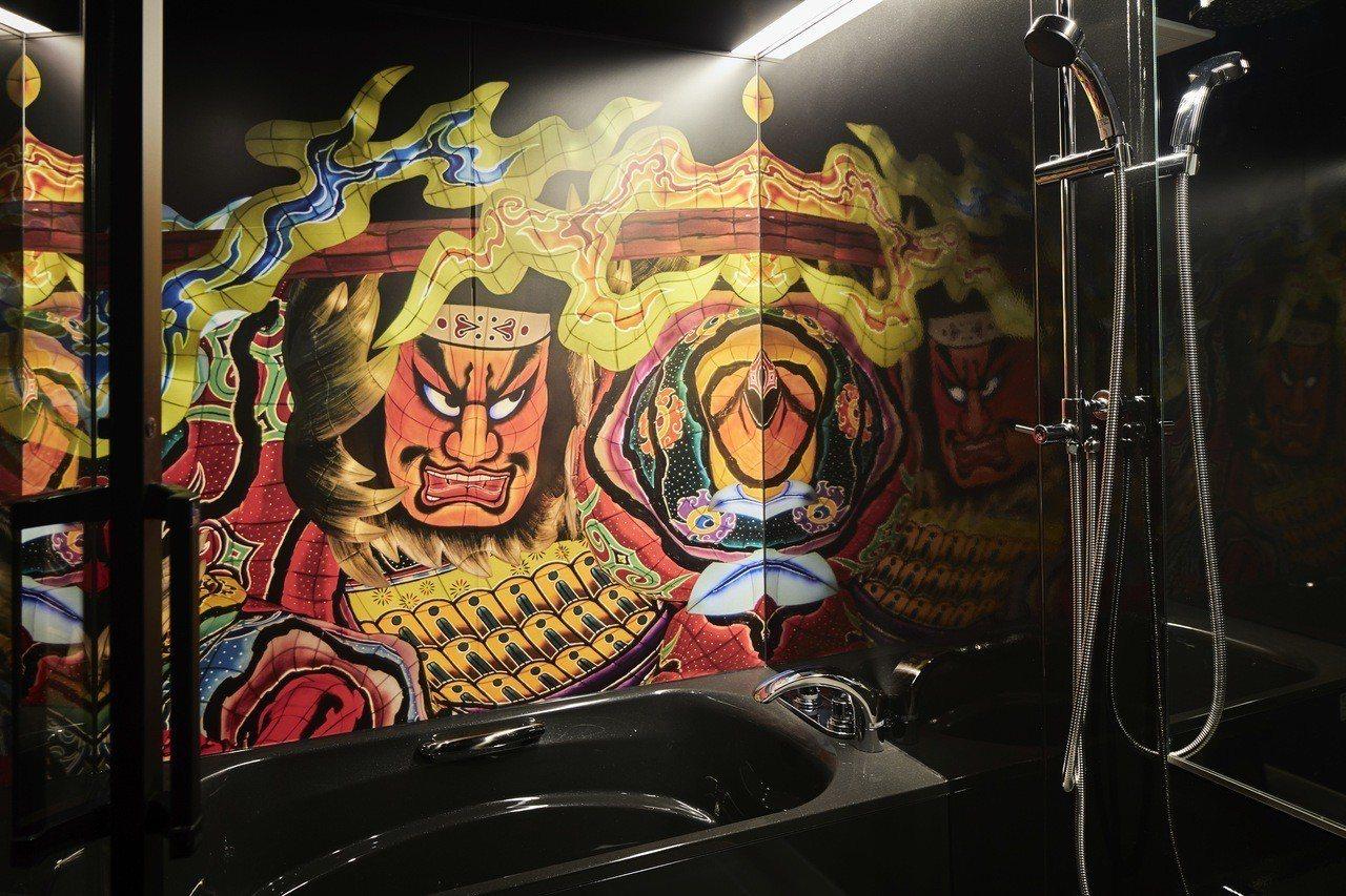 連浴室內都可以看見睡魔的畫像。圖/湯桂禎旅行社提供
