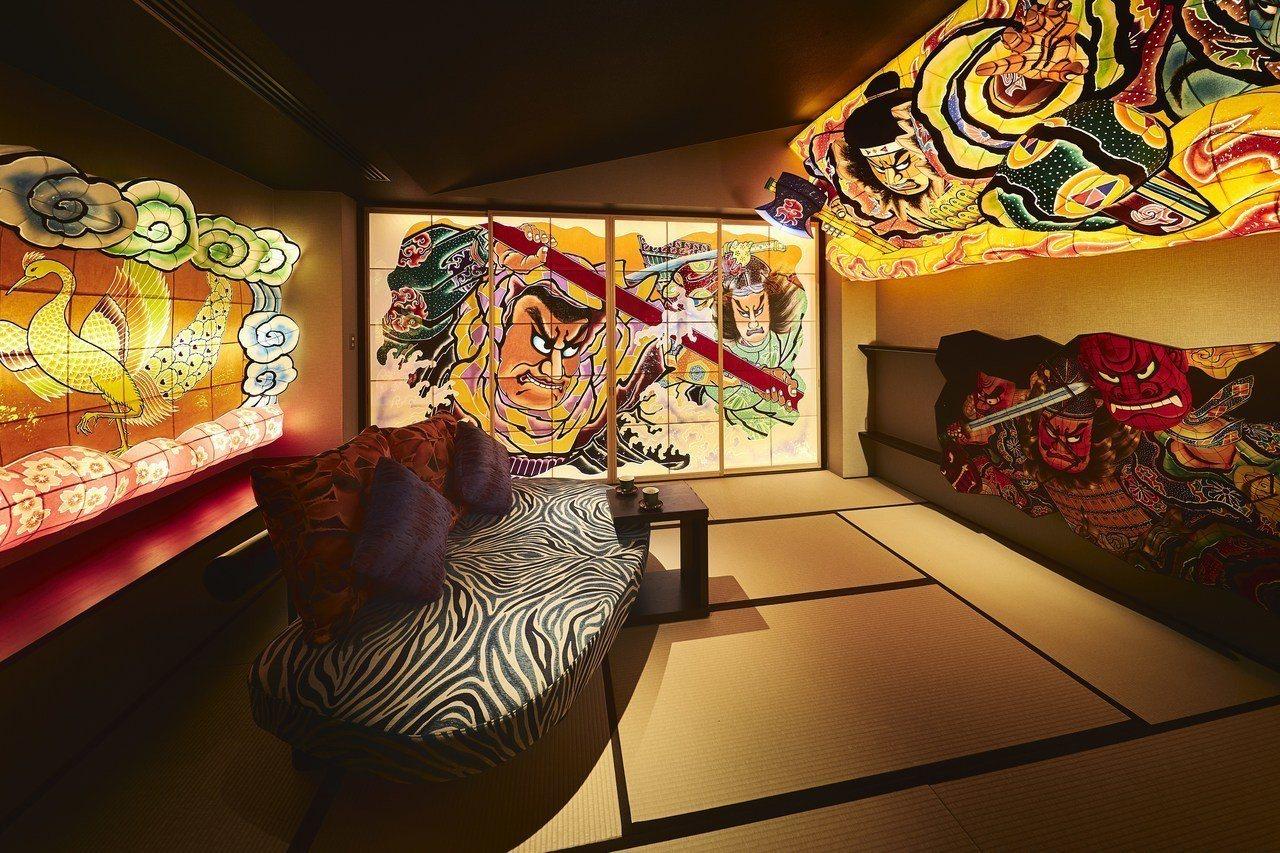 星野集團旗下的青森屋,自4月17日起正式啟用最新的主題房「青森睡魔之間」。圖/湯...