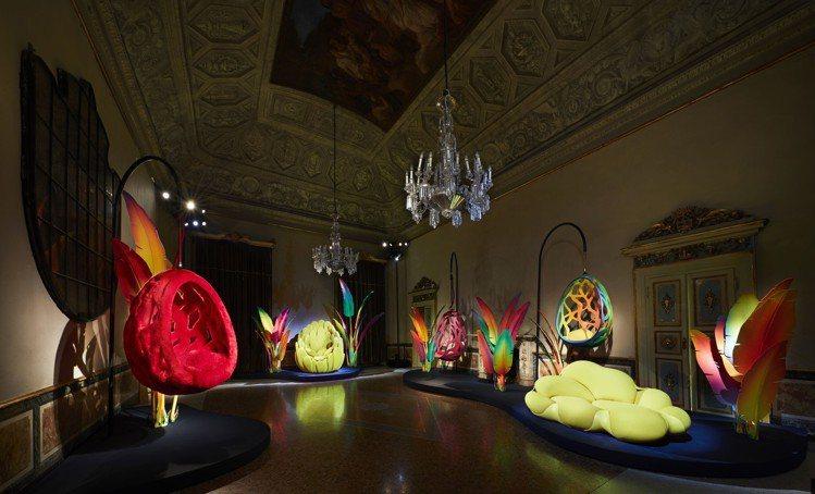路易威登Objets Nomades展覽,於米蘭塞爾貝羅尼宮展出。圖/LV提供