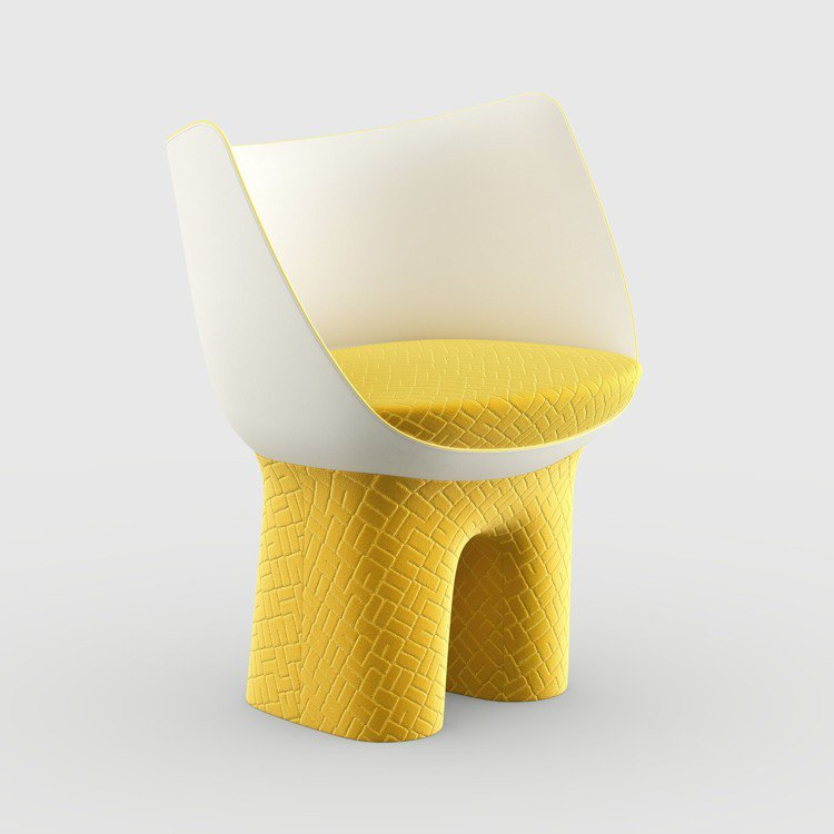 Raw Edges設計的每一款Dolls Feet座椅有三個元素,包括底座、貝殼...