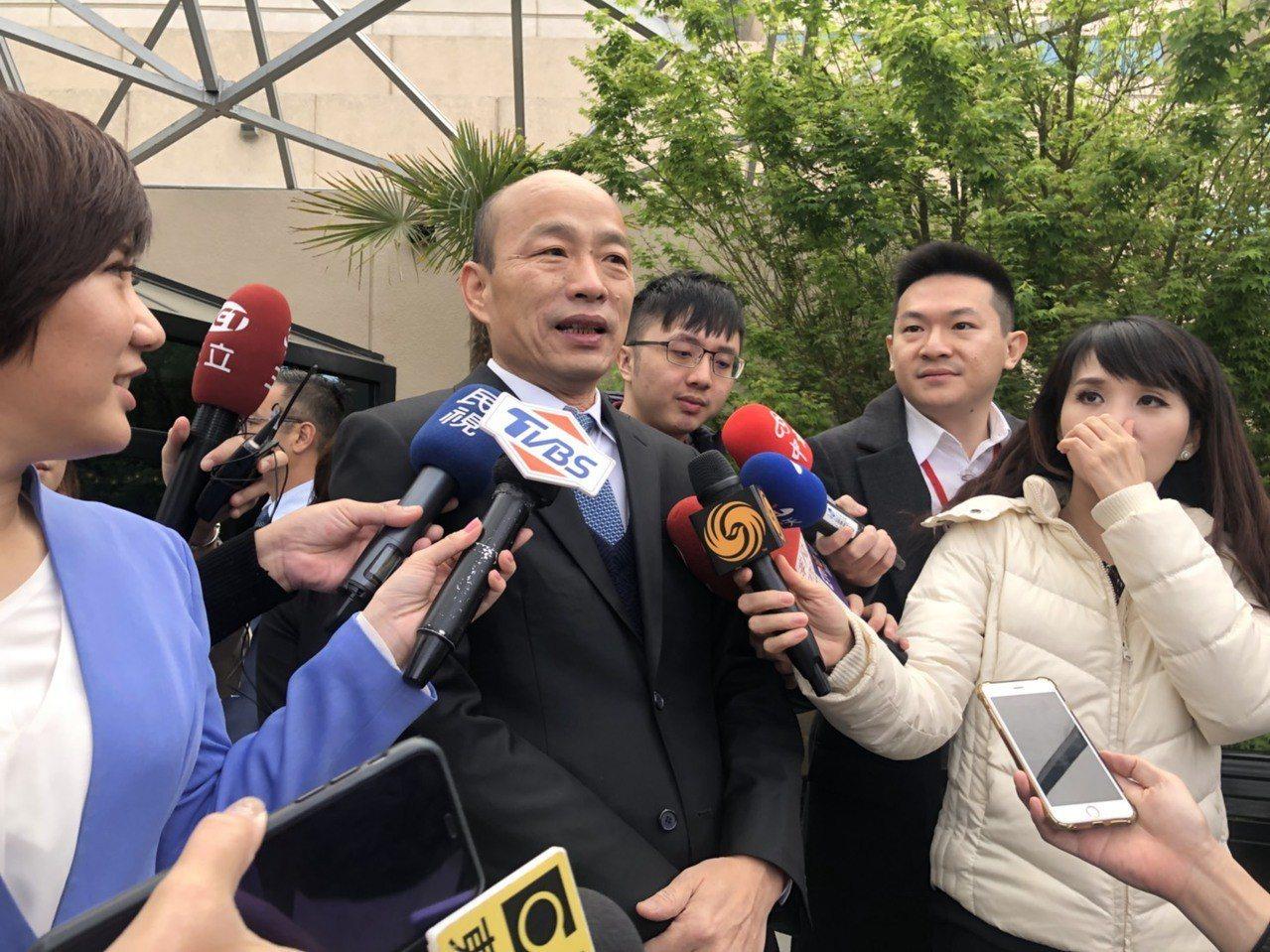 高雄市長韓國瑜在史丹福大學演講,主題是「我的高雄之路:重塑台灣政黨政治和重視公僕...