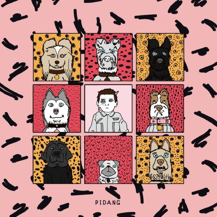 4月15日至5月15日在B1推出皮哥電影插畫展。圖/比漾廣場提供