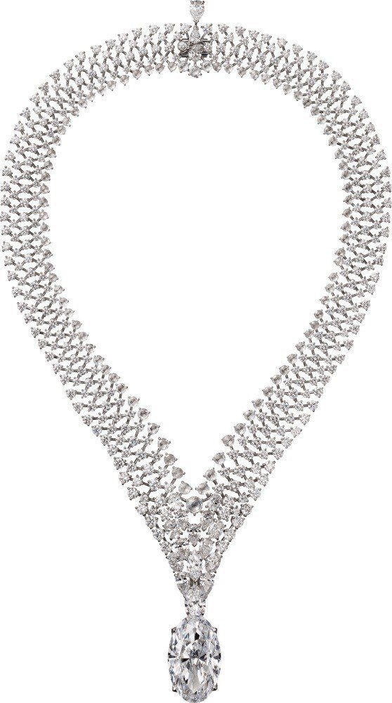 Tanabata鑽石項鍊,鑲嵌37克拉DIF等級主鑽,是全場最貴氣的珠寶,主鑽可...