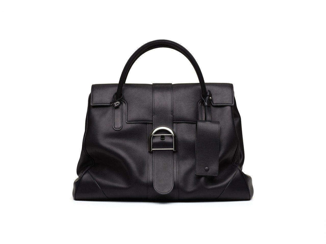 Brillant大型黑色牛皮手提包,售價35萬7,000元。圖/DELVAUX提...
