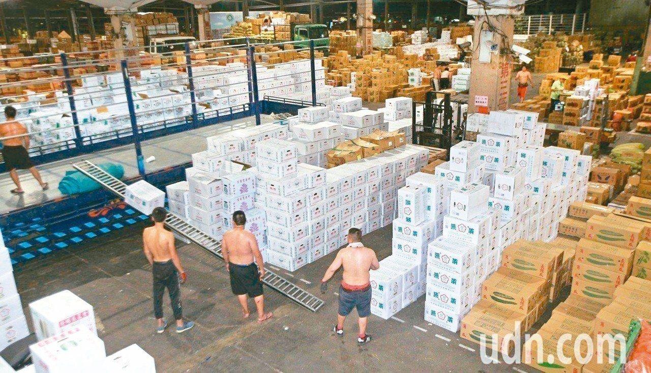 北市萬大第一果菜批發市場及魚類批發市場老舊,將進行改建。 圖/聯合報系資料照片