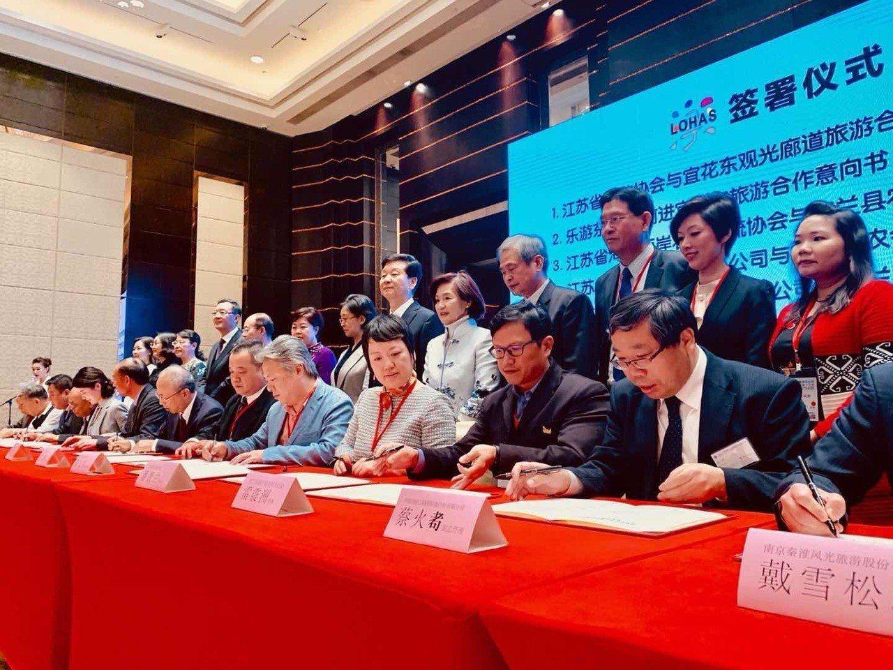 在推介會現場,總計有100多名南京觀光產業、通路商、各界代表等,宜蘭縣各業界代表...
