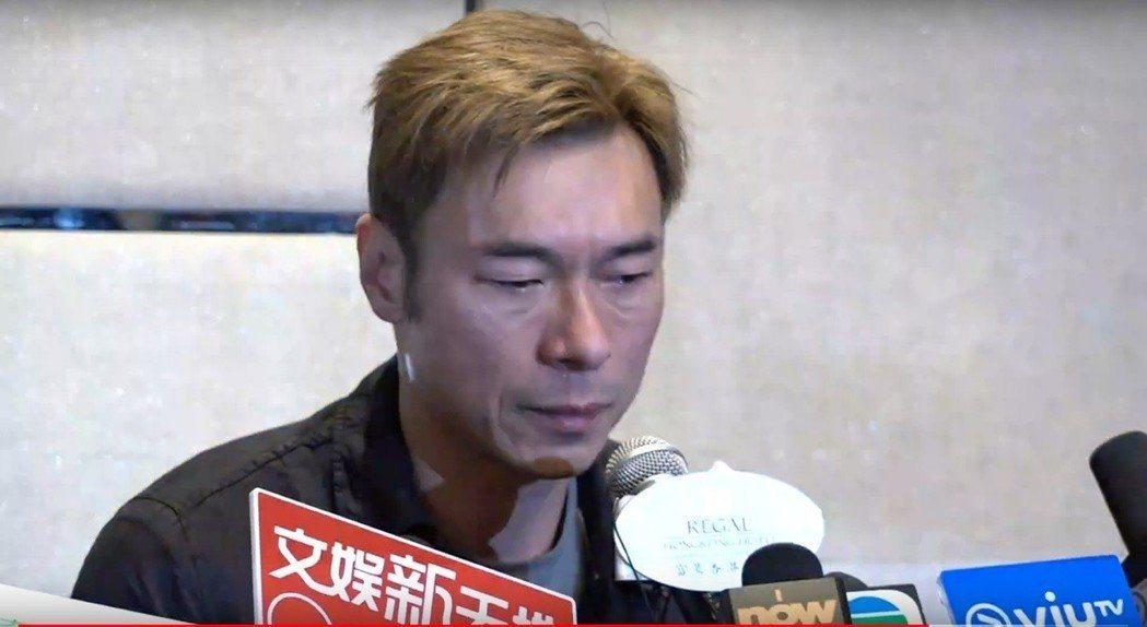 許志安昨天落淚道歉。圖/摘自YouTube