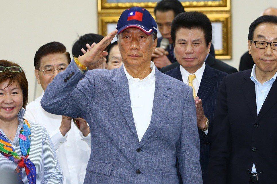 郭董選總統,鴻海目標價調升。記者陳柏亨/攝影