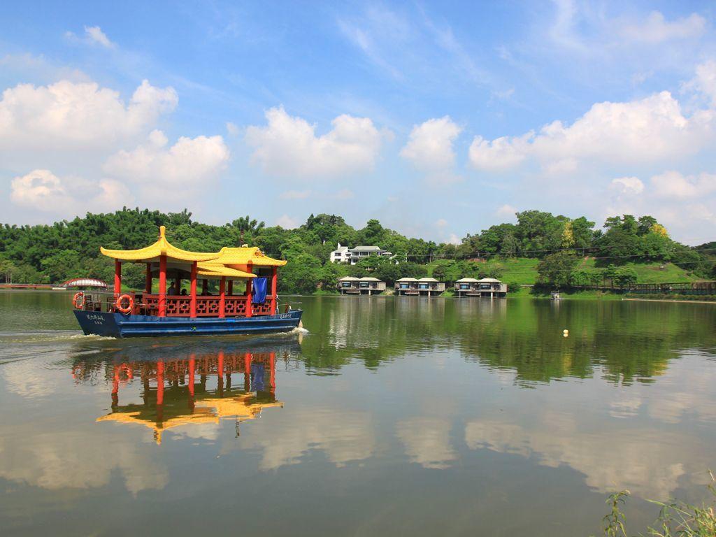 江南渡假村以湖光山色的美麗湖景聞名。 江南渡假村/提供