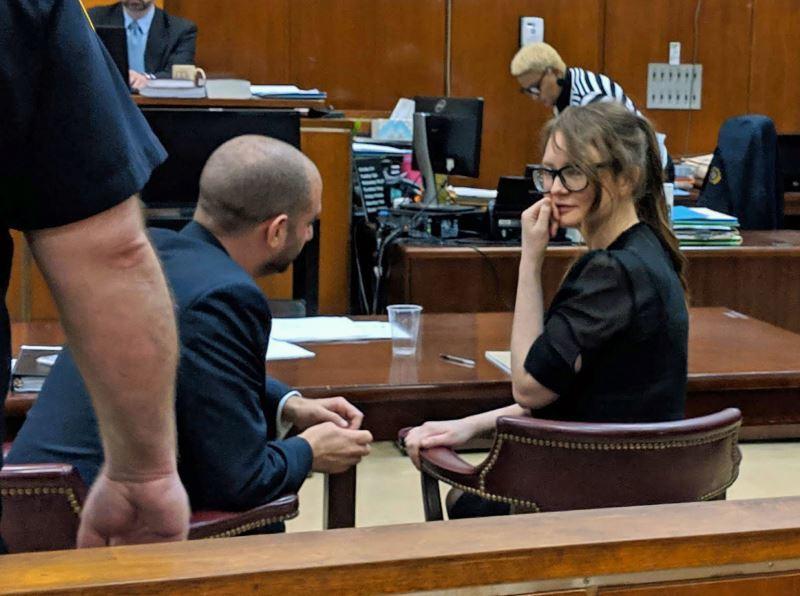 安娜和她的委任律師在法院的談話場景。圖/翻攝自businessinsider