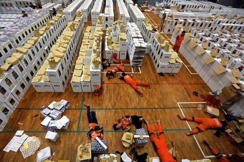 2019年的總統大選,印尼約有2億名合格選民。 圖/路透社