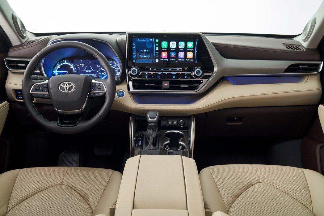 新世代Toyota Highlander 內裝。 摘自Toyota