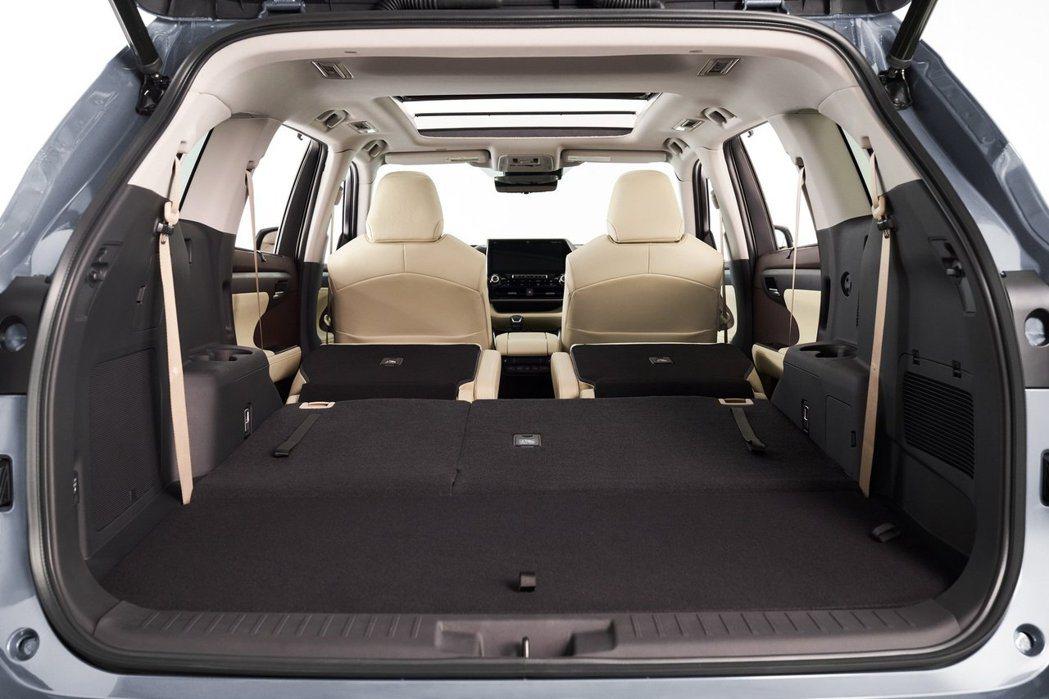 新世代Toyota Highlander最多可提供2,076公升的行李箱空間。 摘自Toyota