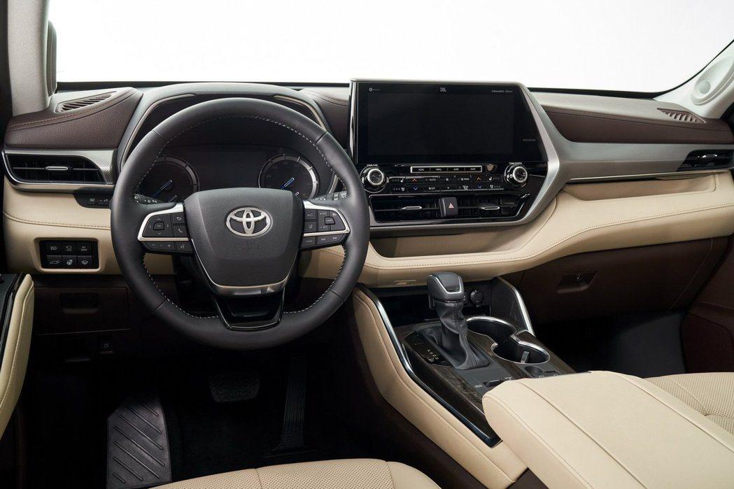 新世代Toyota Highlander高階車款配置12.3吋的觸控式螢幕。 摘...