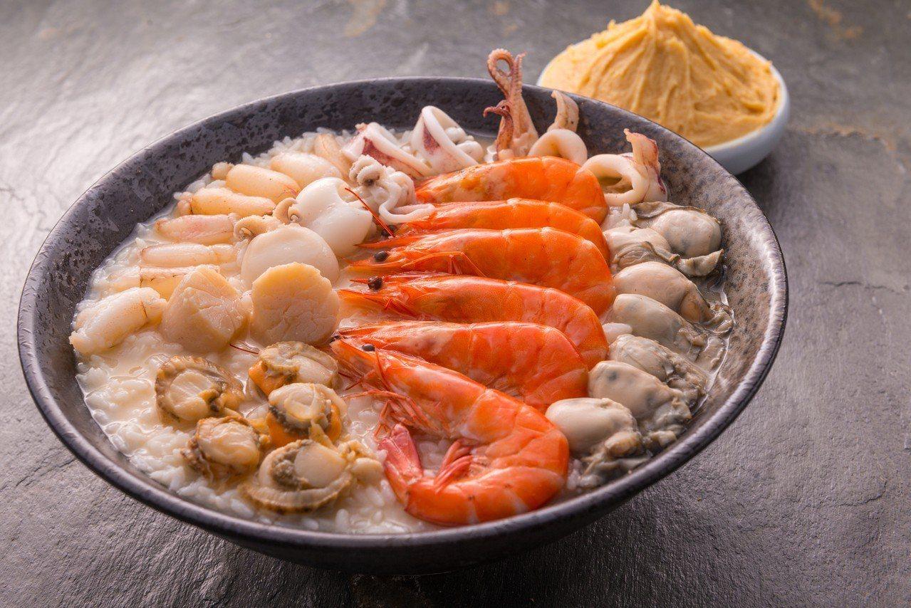 日式相撲海鮮粥,每份249元。圖/翊進海鮮饌食館提供