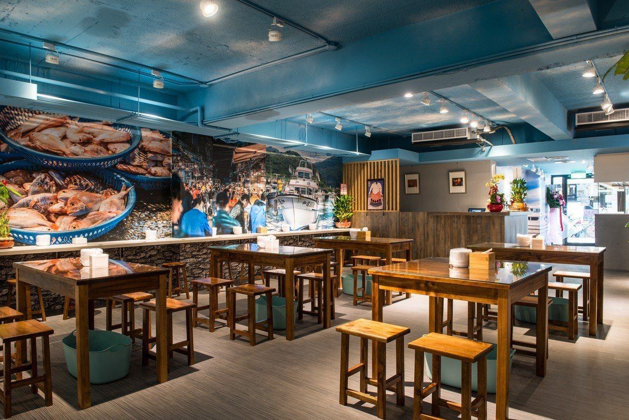 翊進海鮮饌食館設於台北公館商圈,已經開始對外營業。圖/翊進海鮮饌食館提供