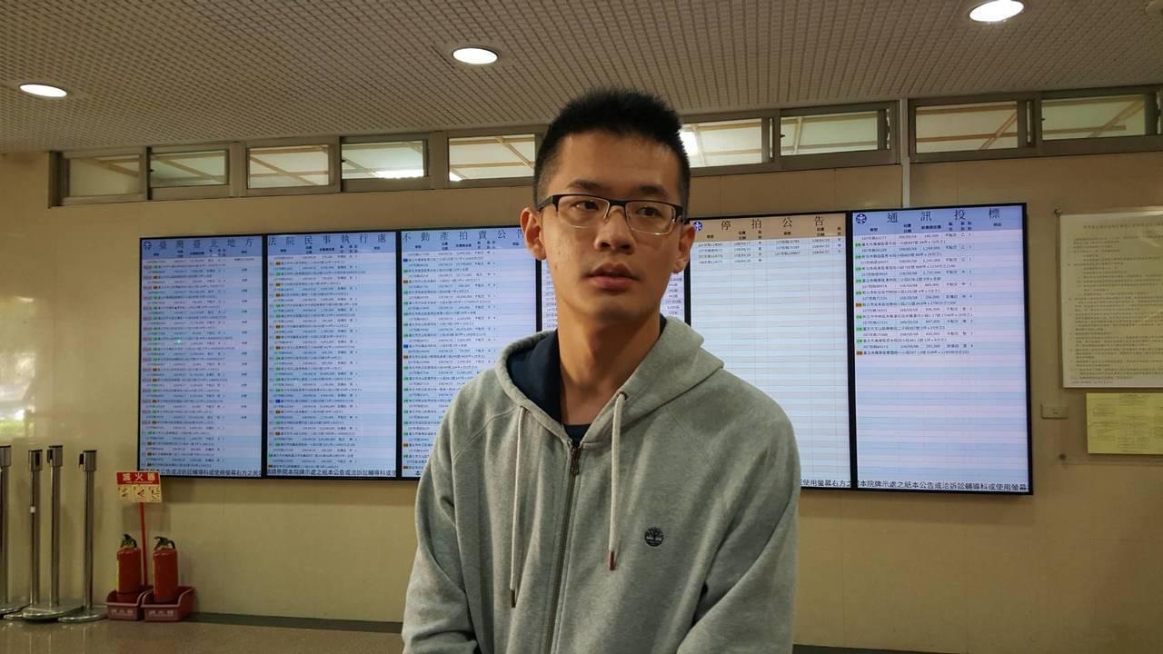 李戡今天出庭聽判。記者王聖藜/攝影