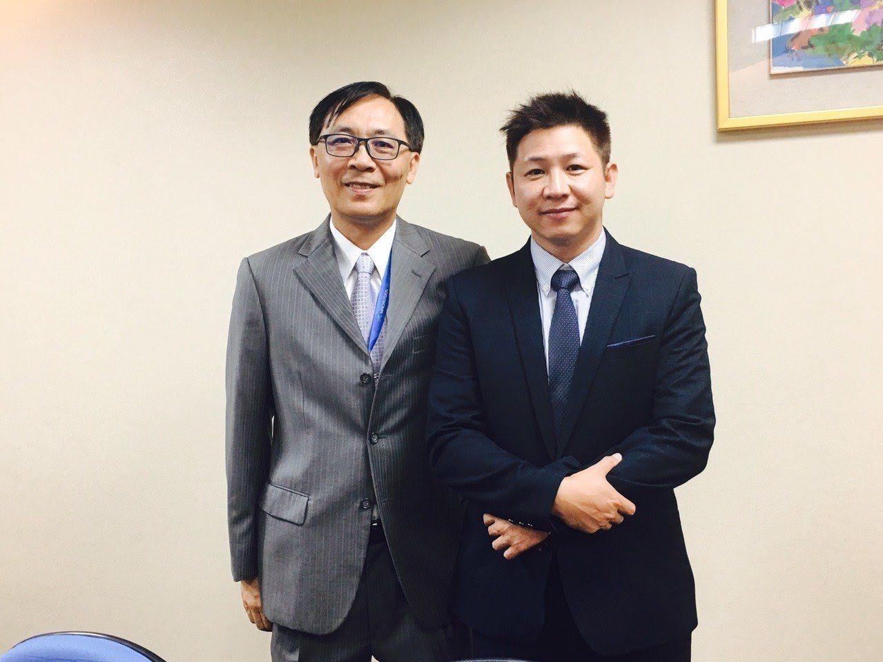 牧德首季獲利創歷年同期新高,圖為牧德董事長汪光夏與總經理陳復生。記者尹慧中攝影