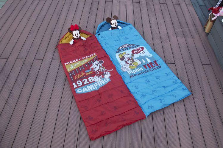 7-ELEVEN「迪士尼夢幻露營」限量可拼接全開式睡袋,兩款可拼接成雙人睡袋,4...