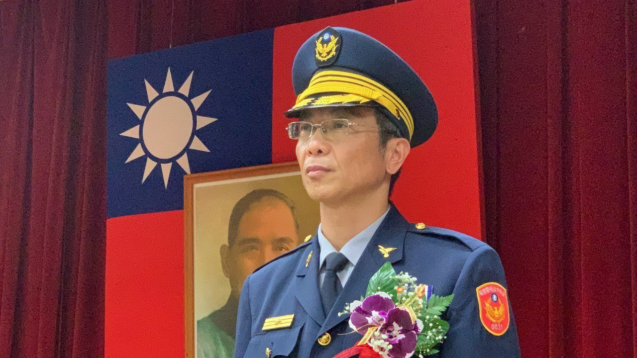 台南市學甲警分局新任分局長洪頂力。記者吳淑玲/攝影