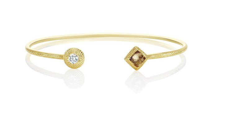 De Beers Talisman Essence 18K黃金手鐲,以拋光鑽石及...