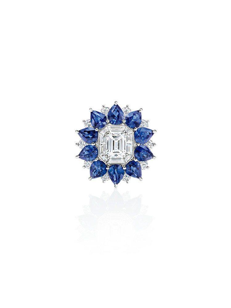 海瑞溫斯頓New York系列718 Marble Marquetry藍寶石鑽石...