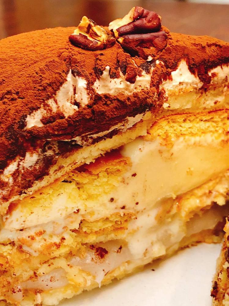 「提拉米蘇麻糬鬆餅」。圖/Labu café 提供