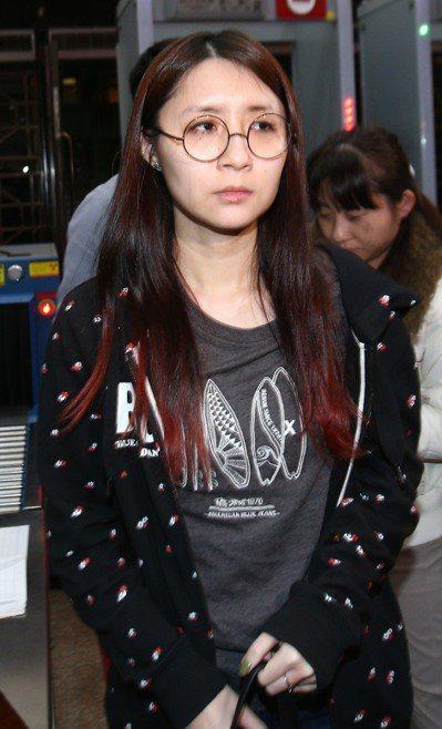葉美麗的女兒郭雅雯(圖)晚上移送北檢複訊。 記者蘇健忠/攝影